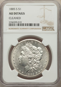 1885-S $1 -- Cleaned -- NGC Details. AU. Mintage 1,497,000....(PCGS# 7164)