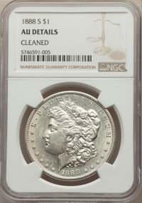 1888-S $1 -- Cleaned -- NGC Details. AU. Mintage 657,000....(PCGS# 7186)