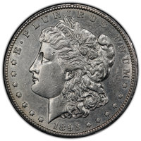 1893-CC $1 AU53 PCGS. PCGS Population: (98/3897 and 0/106+). NGC Census: (65/1818 and 0/42+). CDN: $2,350 Whsle. Bid for...