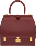 """Luxury Accessories:Bags, Hermès Rouge H Calf Box Leather Sac Mallette with Gold Hardware. Condition: 3. 12.5"""" Width x 11"""" He..."""