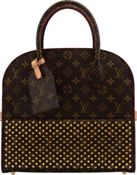 "Louis Vuitton x Louboutin Limited Edition Monogram Coated Canvas Shopping Bag Condition: 2 12.5"" Width x 12"" H..."
