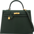 Luxury Accessories:Bags, Hermès 35cm Vert Anglais Epsom Leather Sellier Kelly Bag with Gold Hardware. R, 2014. Condition: 3
