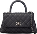 """Luxury Accessories:Bags, Chanel Black Lizard & Caviar Leather Mini Coco Flap Bag with Ruthenium Hardware. Condition: 2. 9.5"""" Width x 6"""" Height ..."""