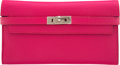 Luxury Accessories:Bags, Hermès Rose Shocking Chevre Leather Kelly Classic Wallet ...