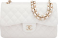 Luxury Accessories:Bags, Chanel White Caviar Leather Jumbo Double Flap Bag with Gol...