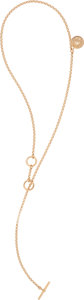 """Luxury Accessories:Accessories, Hermès Rose Gold & Diamond Clou de Selle Gambade Necklace . Condition: 2. 16.25"""" Length. ..."""