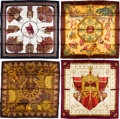 """Luxury Accessories:Accessories, Hermès Set of Four: 90cm Silk Scarves. Condition: 1. 36"""" Width x 36"""" Height. ... (Total: 4 )"""
