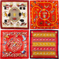 """Luxury Accessories:Accessories, Hermès Set of Four: 90cm Silk Scarves. Condition: 2. 36"""" Width x 36"""" Height. ... (Total: 4 )"""