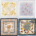 """Luxury Accessories:Accessories, Hermès Set of Four: 90cm Silk Scarves . Condition: 3. 36"""" Width x 36"""" Height. ... (Total: 4 )"""