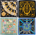 Luxury Accessories:Accessories, Hermès Set of Four: Silk Scarves . Condition: 3. See Extended Condition Report for Sizes... . ... (Total: 4 )