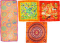 Luxury Accessories:Accessories, Hermès Set of Four: Silk Scarves. Condition: 2. See Extended Condition Report for Sizes.... ... (Total: 4 )
