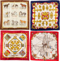 """Luxury Accessories:Accessories, Hermès Set of Four: 90cm Silk Scarves. Condition: 3. 36"""" Width x 36"""" Height. ... (Total: 4 )"""