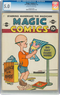 Magic Comics #1 (David McKay Publications, 1939) CGC VG/FN 5.0 Off-white to white pages