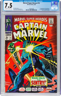 Marvel Super-Heroes #13 Captain Marvel (Marvel, 1968) CGC VF- 7.5 Off-white to white pages