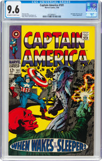 Captain America #101 (Marvel, 1968) CGC NM+ 9.6 Off-white to white pages