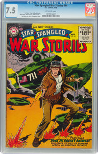 Star Spangled War Stories #44 (DC, 1956) CGC VF- 7.5 Off-white pages