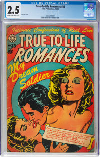 True-To-Life Romances #23 (Star Publications, 1954) CGC GD+ 2.5 Cream to off-white pages