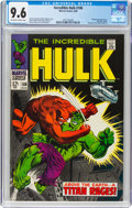 Silver Age (1956-1969):Superhero, The Incredible Hulk #106 (Marvel, 1968) CGC NM+ 9.6 Off-white to white pages....