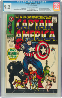 Captain America #100 (Marvel, 1968) CGC NM- 9.2 Off-white to white pages
