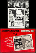 "Movie Posters:Bad Girl, Bait & Other Lot (Columbia, 1954). Folded, Fine/Very Fine. Uncut Pressbooks (3) (Multiple Pages, 11"" X 14"" - 12.25"" X 17). B... (Total: 3 Items)"