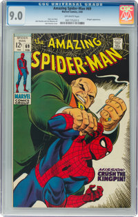 The Amazing Spider-Man #69 (Marvel, 1969) CGC VF/NM 9.0 Off-white pages