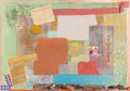 Paintings, Robert Natkin (1930-2010). The New York Times, 1981. Oil with collage of ribbons, feathers, newspaper clippings, invitat...
