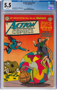 Action Comics #167 (DC, 1952) CGC FN- 5.5 White pages