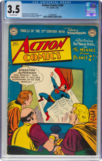 Action Comics #168 (DC, 1952) CGC VG- 3.5 Off-white pages