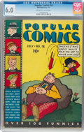 Platinum Age (1897-1937):Miscellaneous, Popular Comics #18 (Dell, 1937) CGC FN 6.0 Off-white to white pages....