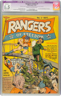 Rangers Comics #1 (Fiction House, 1941) CGC Apparent FN+ 6.5 Moderate (P) Cream to off-white pages