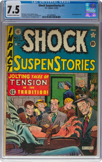 Shock SuspenStories #1 (EC, 1952) CGC VF- 7.5 Off-white to white pages