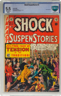 Shock SuspenStories #2 (EC, 1952) CBCS VG/FN 5.0 Off-white to white pages