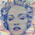 Works on Paper, Mr. Brainwash (b. 1966). Madonna, early 21st century. Silkscreen, acrylic, and spray paint on paper. 36 x 36 inches (91....