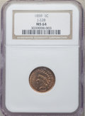 Patterns, 1859 1C Indian Cent, Judd-228, Pollock-272, R.1, MS64 NGC. ...