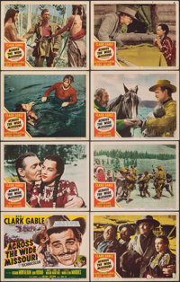 """Across the Wide Missouri (MGM, 1951). Fine+. Lobby Card Set of 8 (11"""" X 14""""). Western. ... (Total: 8 Items)"""
