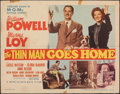 """Movie Posters:Mystery, The Thin Man Goes Home (MGM, 1945). Folded, Fine-. Half Sheet (22"""" X 28"""") Style B. Mystery.. ..."""