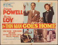 """The Thin Man Goes Home (MGM, 1945). Folded, Fine-. Half Sheet (22"""" X 28"""") Style B. Mystery"""