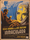 "Movie Posters:Foreign, Inmaculada (Cinematografica Grovas, 1950). Folded, Fine. Mexican One Sheet (27.25"" X 37.25"") Renau Artwork. Foreign.. ..."