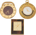 Luxury Accessories:Accessories, Hermès Set of Three: Travel Clocks. Condition: 3. See Extended Condition Report for Sizes.... ... (Total: 3 )