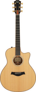 Musical Instruments:Acoustic Guitars, 2011 Taylor 716ce-LTD Natural Acoustic Electric Guitar, Serial #1105250079.. ...
