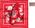 Luxury Accessories:Accessories, Hermès and Moynat Set of Two: Limited Edition Silk Scarf and Card Holder. Condition: 1. See Extended Condition Report ... (Total: 2 )