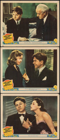 """Movie Posters:Comedy, Andy Hardy Meets Debutante (MGM, 1940). Fine+. Lobby Cards (3) (11"""" X 14""""). Comedy.. ... (Total: 3 Items)"""