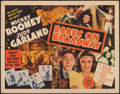 """Movie Posters:Musical, Babes on Broadway (MGM, 1941). Folded, Fine+. Half Sheet (22"""" X 28""""). Musical.. ..."""