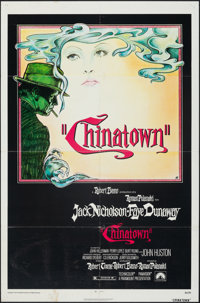 """Chinatown (Paramount, 1974). Folded, Fine+. One Sheet (27"""" X 41""""). Jim Pearsall Artwork. Mystery"""