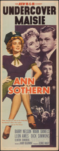 """Movie Posters:Comedy, Undercover Maisie (MGM, 1947). Folded, Fine+. Insert (14"""" X 36""""). Comedy.. ..."""
