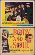 """Movie Posters:Film Noir, Body and Soul (United Artists, 1947). Fine. Title Lobby Card & Lobby Card (11"""" X 14""""). Film Noir.. ... (Total: 2 Items)"""