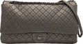 Luxury Accessories:Bags, Chanel Metallic Charcoal Quilted Calfskin Leather XXL Airline Flap Bag with Ruthenium Hardware. Condition: 2...