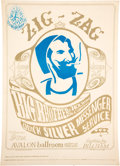 """Music Memorabilia:Posters, FD-14 Big Brother & Holding Company 1966 """"Zig-Zag Man"""" Family Dog Concert Poster...."""
