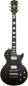 Musical Instruments:Electric Guitars, 2003 Gibson Les Paul Custom Black Solid Body Electric Guitar, Serial #030338.. ...