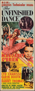 """Movie Posters:Drama, The Unfinished Dance (MGM, 1947). Folded, Fine+. Insert (14"""" X 36""""). Drama.. ..."""